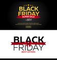 black friday sale black friday banner shopping vector image