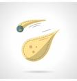 Flat color style comet icon vector image