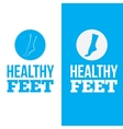 Healthy Feet Logo Concept vector image