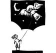 Kite Angel vector image