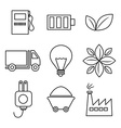 Line icons design vector image