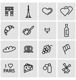 line paris icon set vector image