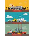 Seaway Terminal Set vector image