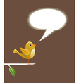 Social media bird speech love vector image
