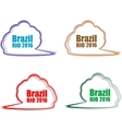 Stickers set Brazil Rio Summer Games 2016 vector image