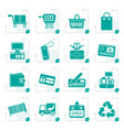 stylized simple online shop icons vector image