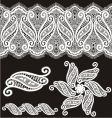 embroidered lace design  vector image vector image