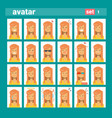 female different emotion set profile icon woman vector image