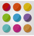 grungy buttons vector image