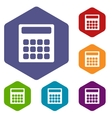 Calculator rhombus icons vector image