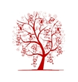 Monkey tree for your design Symbol of 2016 year vector image vector image