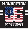 Manhattan district t-shirt vector image