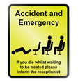 accident and emergency vector image