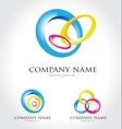 Colorful Circles Logo vector image