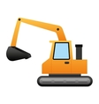excavator construction isolated icon vector image
