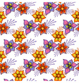 Floral seamless spring pattern vector image