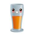 glass drink juiy kawaii cartoon vector image