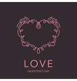 Heart Frame - Love Design for Valentines Day Logo vector image