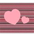 knitted pattern vector image