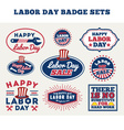 LABOR DAY badge labels collections vector image