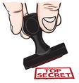 lupam pecat Top secret resize vector image
