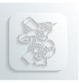 Oktoberfest man icon vector image