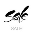 sale lettering template vector image
