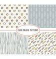 set of cute retro patterns vector image