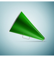 Green megaphone icon isolated on blue background vector image