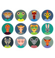 Chinese zodiac collection Set of animals faces vector image