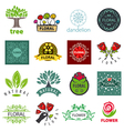 biggest collection of logos of flower and vector image vector image
