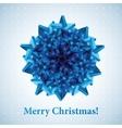 christmas snowflake vector image vector image