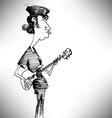 Bass Player Cartoon vector image
