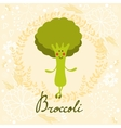 Cute sweet broccoli character vector image