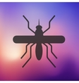 mosquito icon on blurred background vector image