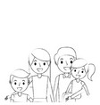 portrait happy family parents together with son vector image