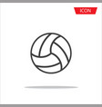 volleyball icon outline volleyball icon vector image