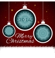 Christmas balls paper vector image vector image