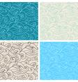 hand drawn wavy seamless pattern vector image