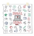 Social Media Word and IconDoodle sketchy vector image