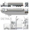 detailed tanker truck vector image