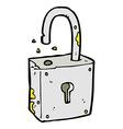 caroon rusty old padlock vector image