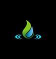 bio water drop ecology logo vector image