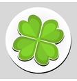 Clover sticker icon flat style vector image