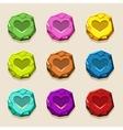 colors stone buttons ancient amulet vector image