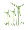 doodle windmill vector image