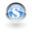 glossy icon letter s vector image