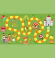 kids amusement park board game vector image