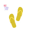 Next Step Slippers Banner vector image