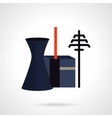 Power plant and towers flat icon vector image
